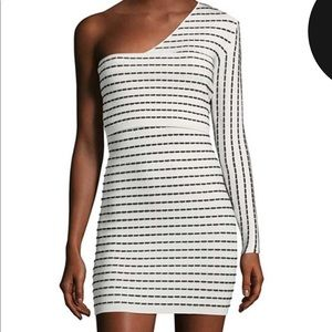 Ronny Kobo Strech One-Sleeve Dress